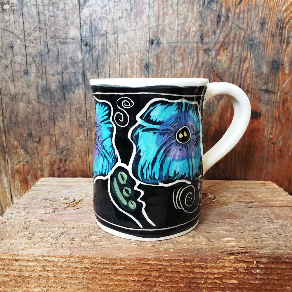 Mug, Regular, Floral Morning Glory