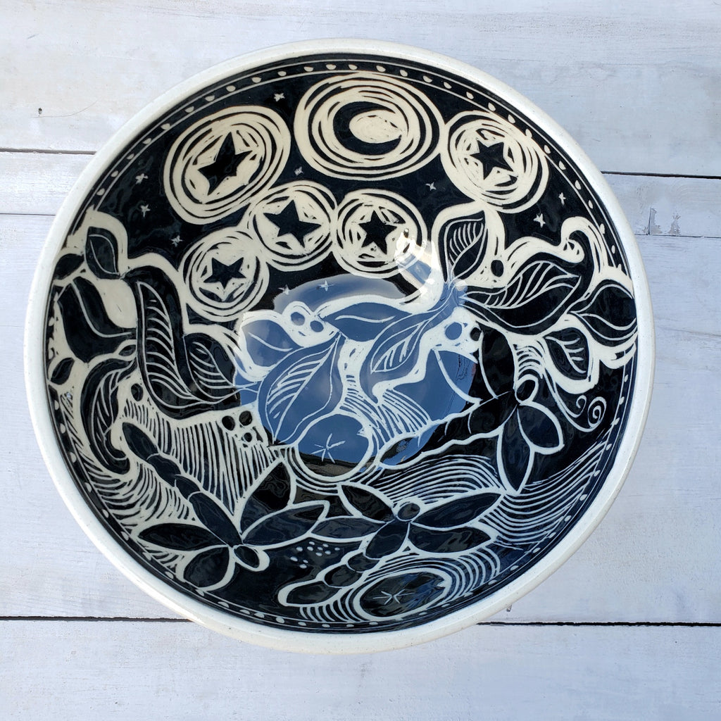 Medium Serving Bowl - Dragonfly and Stars