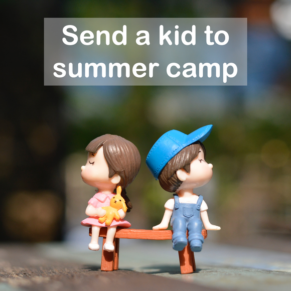 Send a kid to summer camp (one-time gift)