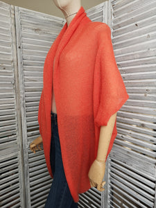 LL Cardigan | Versatile | Lightweight | in Orange