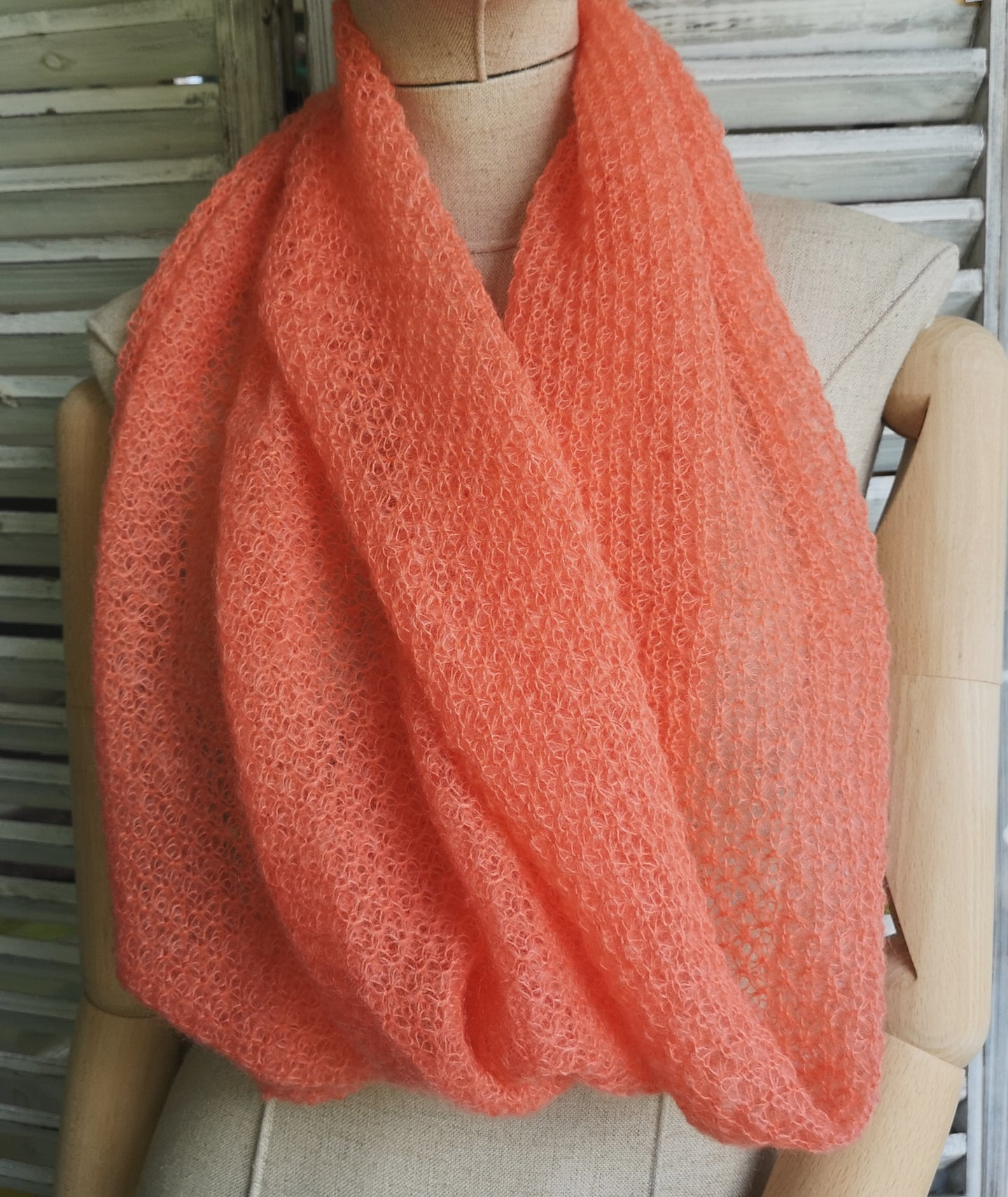 Super soft mohair snood scarf
