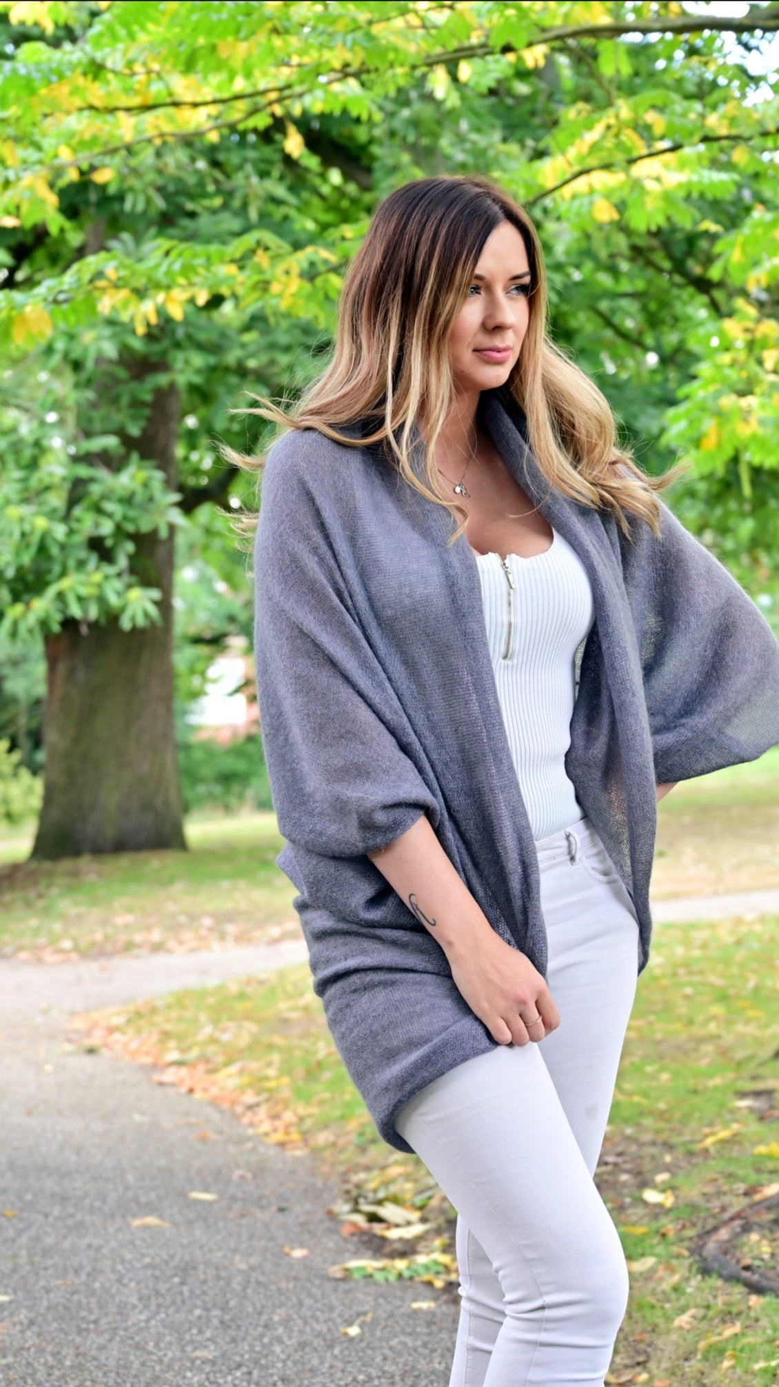 LL Cardigan | Versatile | Lightweight | in dusky grey