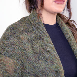 LL Cardigan | Versatile | Lightweight | in Green/Golden melange
