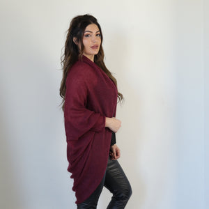 Light mohair cardigan with sleeves