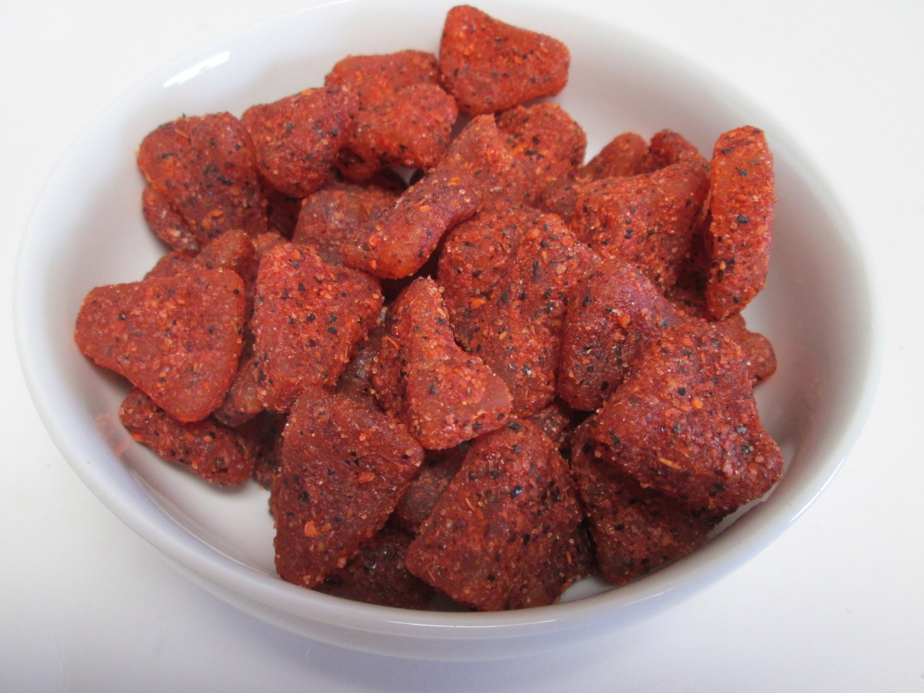 Dried Chili Pineapple Tidbits, 20 lbs / case