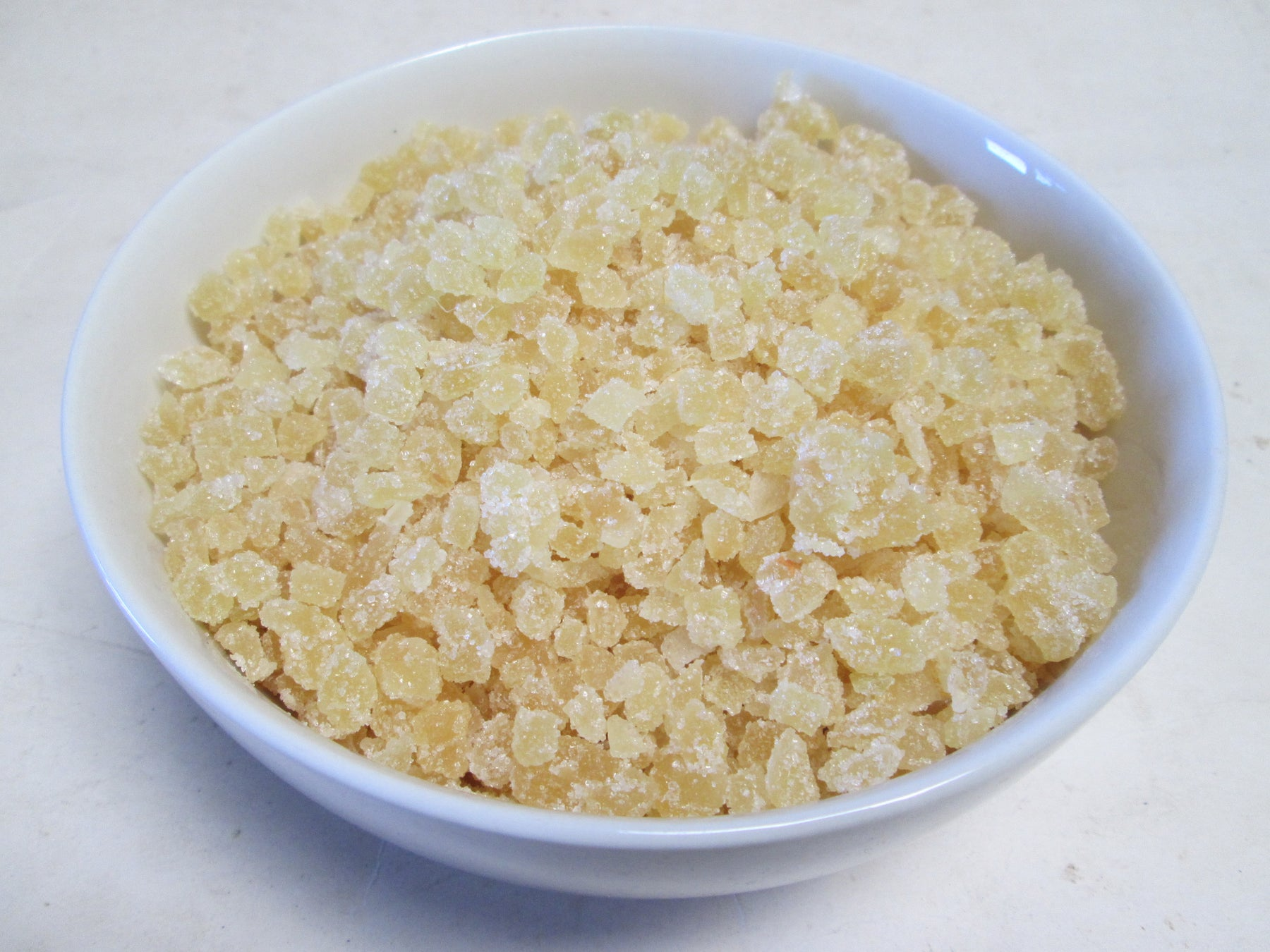 Crystallized Un-sulfured Ginger Dices (Candied), 44 lbs / case
