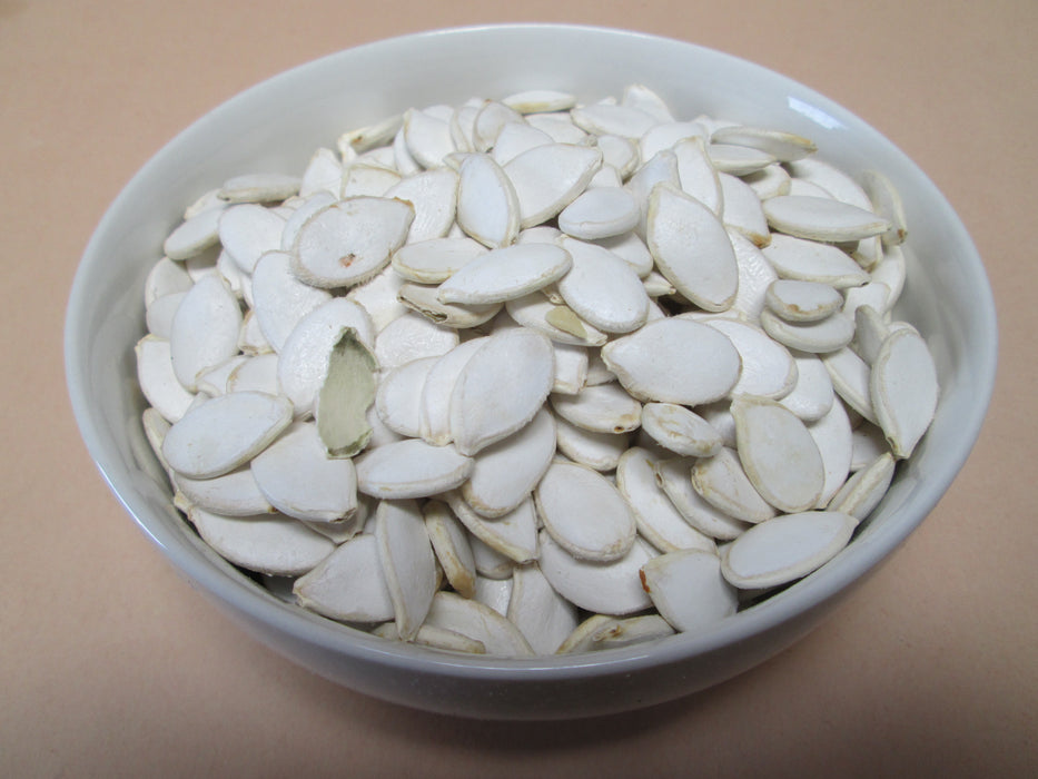 Raw White Pumpkin Seeds in Shell, 25 lbs / case