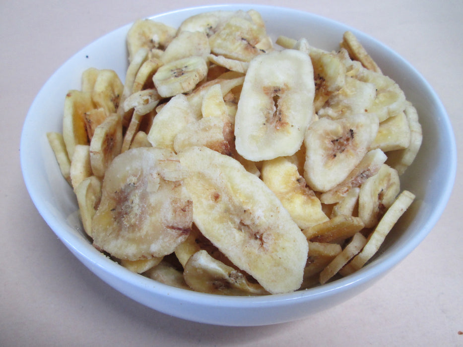 Un-Sweetened Dried Banana Chips, 14 lbs / case