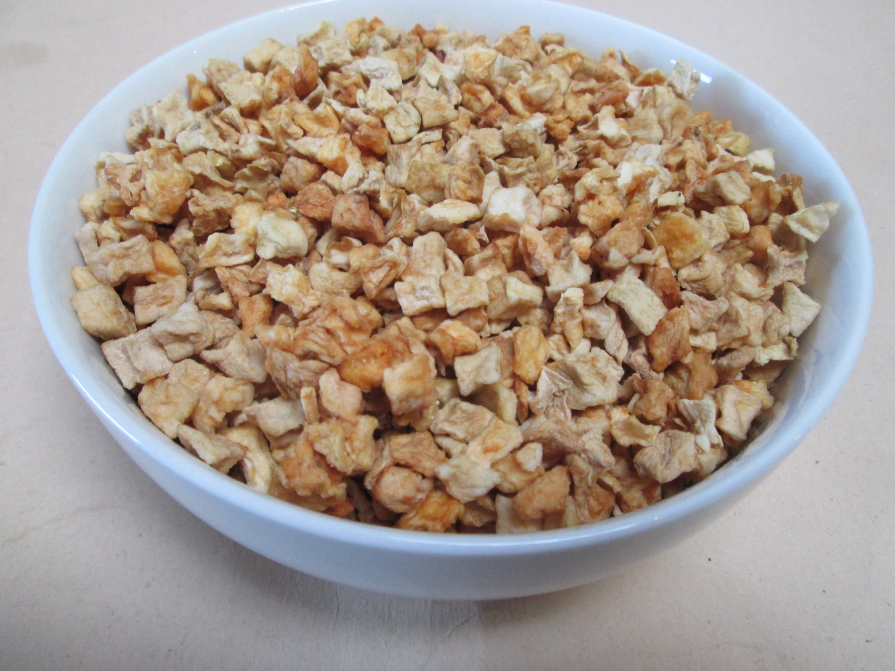Dried Natural Apple Dices ( Low Moisture), 26.4 lbs / case