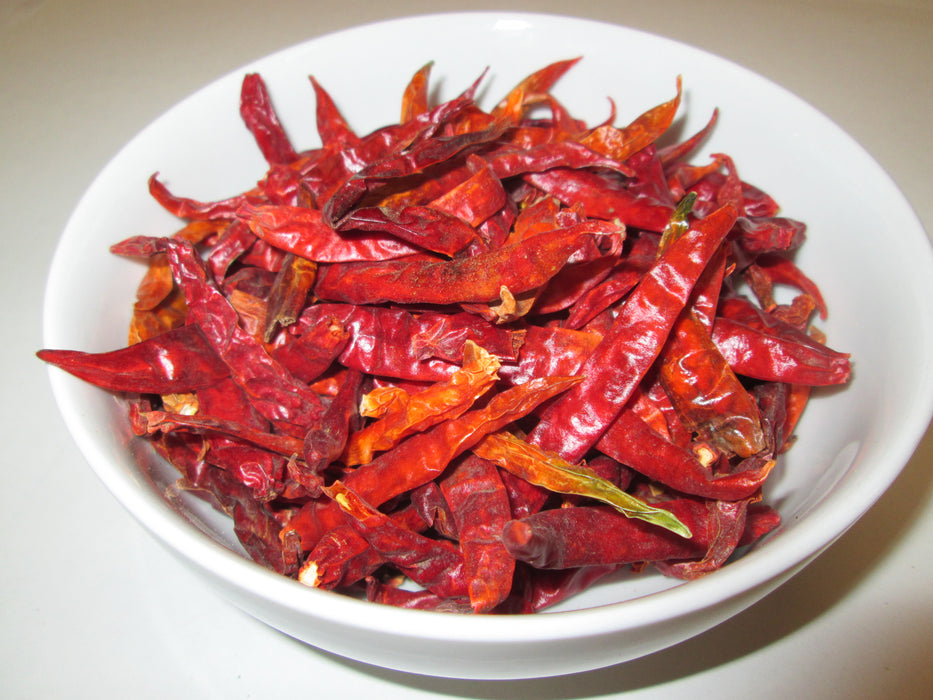 Dried Arbol Chiles-Stemless, 22 lbs