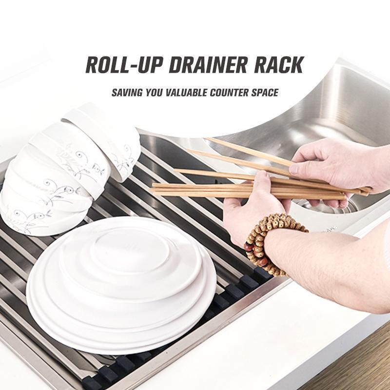 Roll-Up Drainer Rack [2019 VERSION]
