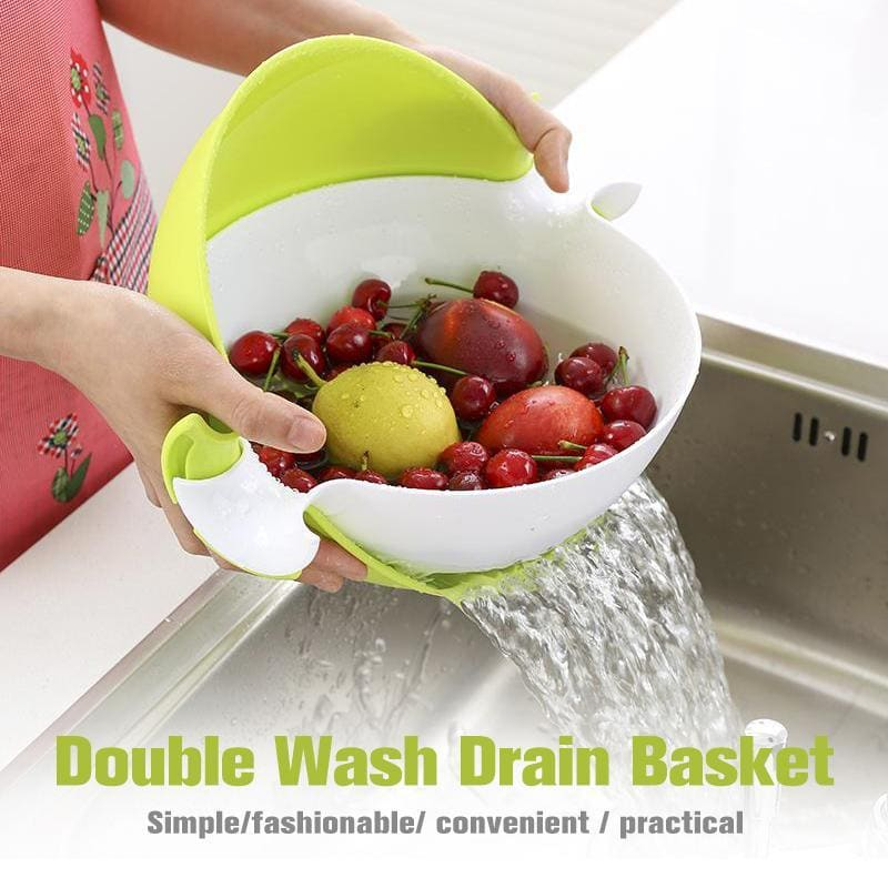 Double Wash Drain Basket(2019 Upgraded)