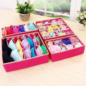 FOLDABLE CLOSET UNDERWEAR ORGANIZER (4PCS/SET)