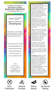 Mild Shampoo/Hair Wash | 200 ml | Paraben and Sulfate Free | Harvest Cocoa Butter, Nutmeg & Cedarwood | All Hair Types