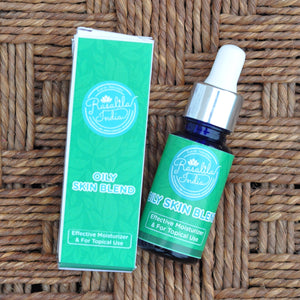 Oily Skin Blend | For Tropical Climate | Moisturizes & Nourishes | For Oily Skin | Prevents Clogging of Pores | 15 ml