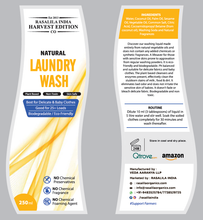 Load image into Gallery viewer, Natural Liquid Laundry Wash/Detergent | Environment Friendly & Sensitive to Skin