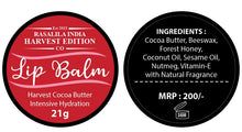 Load image into Gallery viewer, Harvest Cocoa Butter Lip Balm | 21 g | Suitable for all seasons | Safe for all | Pack of 2