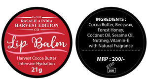 Harvest Cocoa Butter Lip Balm | 21 g | Suitable for all seasons | Safe for all | Pack of 2