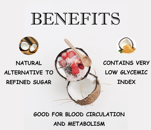 100 % Organic Coconut (Neera) Sugar - 1 kg | Natural Sweetener | Rich Source Of Potassium | Combats Water Retention And Mineral Imbalance