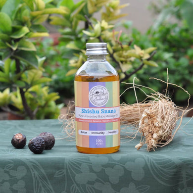 Shishu Snana Baby Massage Oil | 200 ml | Pre or Post Bath | Strengthens Bones and Retains Skin's Softness