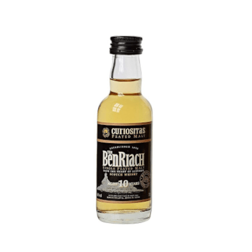 Benriach 10 yr Curiositas Single Malt Scotch Whisky Miniature - 5cl