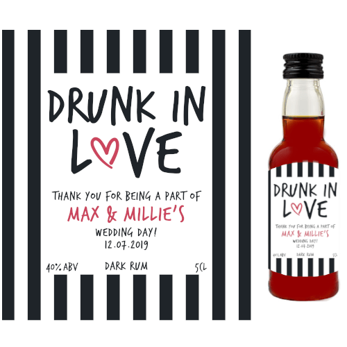 Drunk in Love (Dark Rum Wedding Favour 5cl)