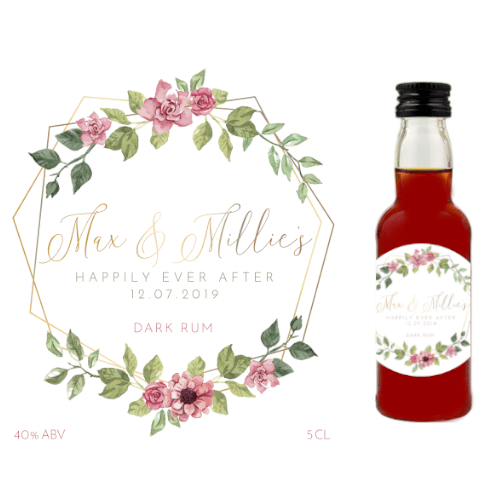 Happily Ever After (Dark Rum Wedding Favour 5cl)