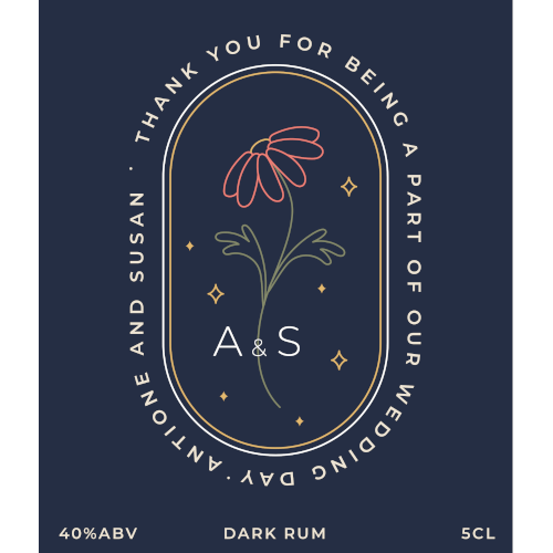 Thank You for Being a Part of Our Wedding Day (Dark Rum Wedding Favour 5cl)
