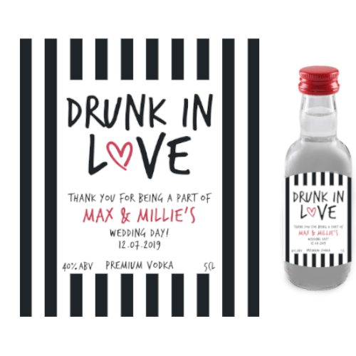 Drunk in Love (Premium Vodka Wedding Favour 5cl)