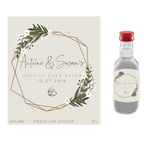 Happily Ever After (Premium Vodka Wedding Favour 5cl)