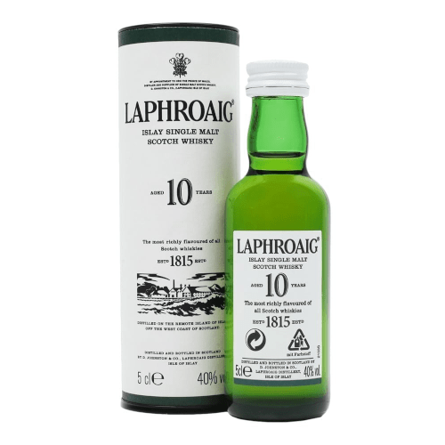 Laphroaig 10 year Single Malt Scotch Whisky Miniature - 5cl