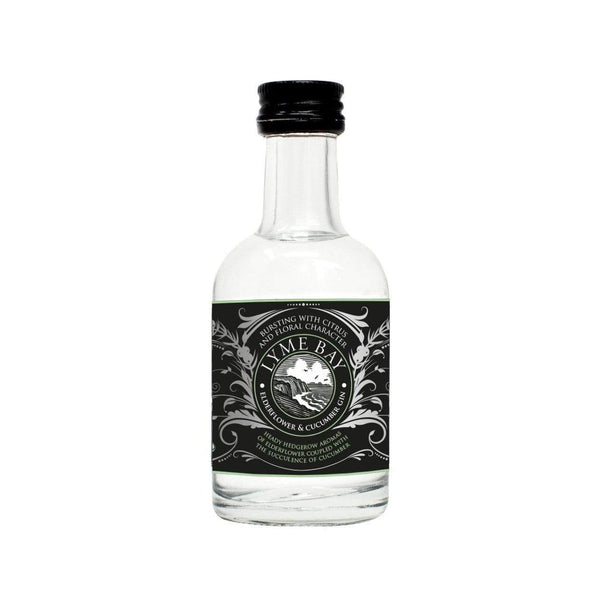 Lyme Bay Elderflower & Cucumber Gin Miniature - 5cl