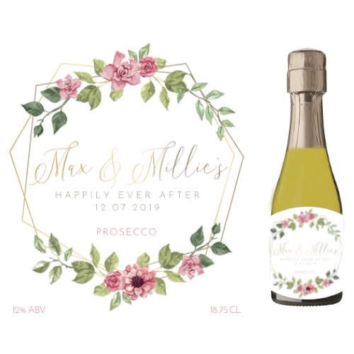 Happily Ever After (Prosecco Wedding Favour 5cl)