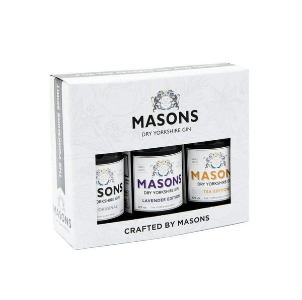 Masons Dry Yorkshire Gin Miniature Selection - 3 x 5cl