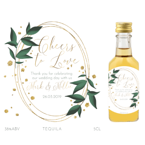 Cheers to Love! (Tequila Wedding Favour 5cl)