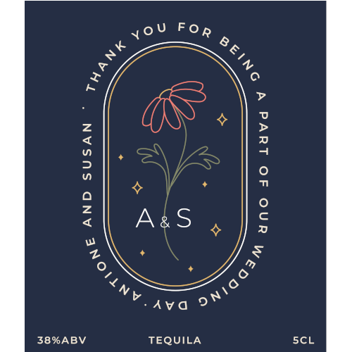Thank You for Being a Part of Our Wedding Day (Tequila Wedding Favour 5cl)