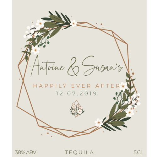 Happily Ever After (Tequila Wedding Favour 5cl)