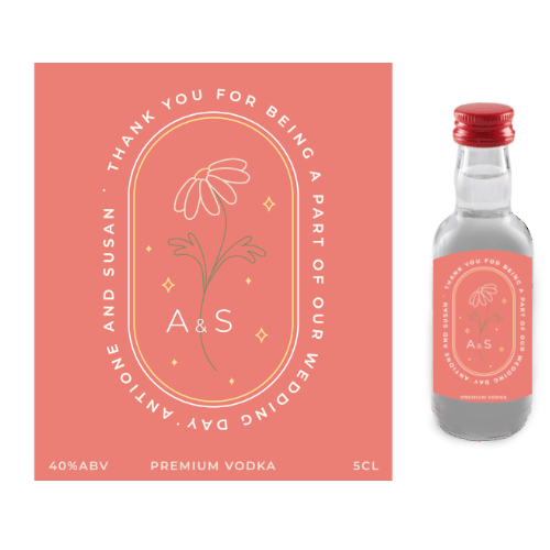Thank you for Being a Part of our Wedding Day (Premium Vodka Wedding Favour 5cl)