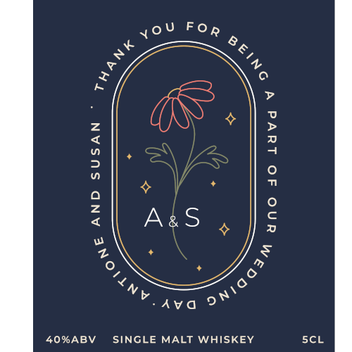 Thank You for Being a Part of Our Wedding Day (Single Malt Whiskey Wedding Favour 5cl)
