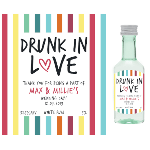 Drunk in Love (White Rum Wedding Favour 5cl)