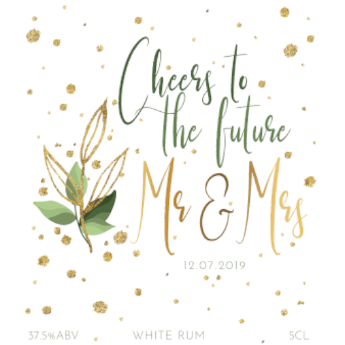 Cheers to the Future (White Rum Wedding Favour 5cl)