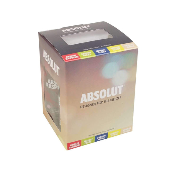 Just Miniatures:Absolut Perfect Chill Freezer Vodka Miniature Gift Set - 5 x 5cl