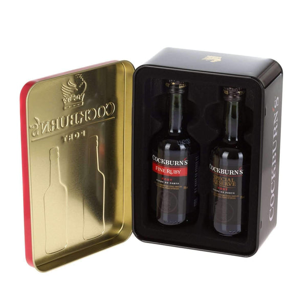 Just Miniatures:Cockburn's Port Miniatures 2 x 5cl Gift Tin