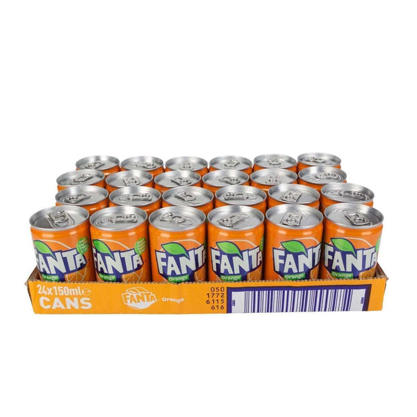 Just Miniatures:Fanta Orange Miniature Can (150ml) - 24 Pack