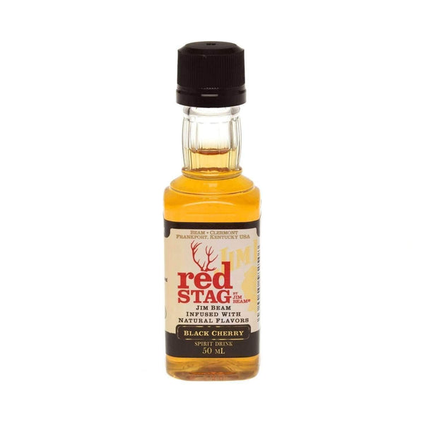 Just Miniatures:Jim Beam Red Stag Black Cherry Bourbon Whiskey Miniature - 5cl,Miniature Drinks