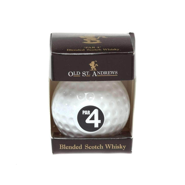 Just Miniatures:Old St. Andrews PAR 4 Golf Ball Blended Whisky Miniature - 5cl