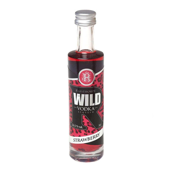 Just Miniatures:WILD Vodka Liqueur Miniature - Strawberry - 5cl,Miniature Drinks