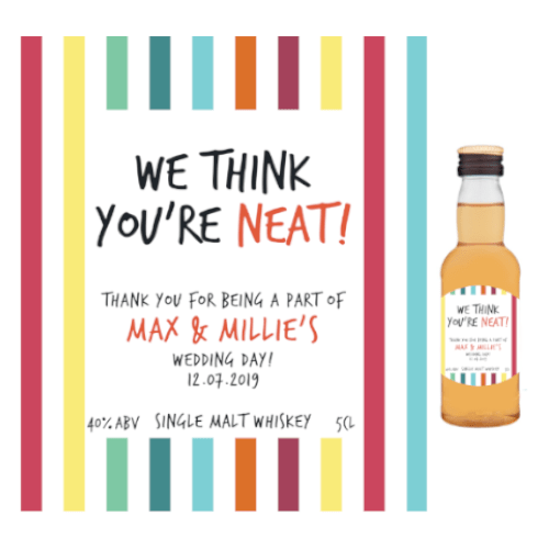We Think You're Neat! (Single Malt Whiskey Wedding Favour 5cl)