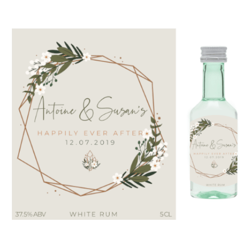 Happily Ever After (White Rum Wedding Favour 5cl)