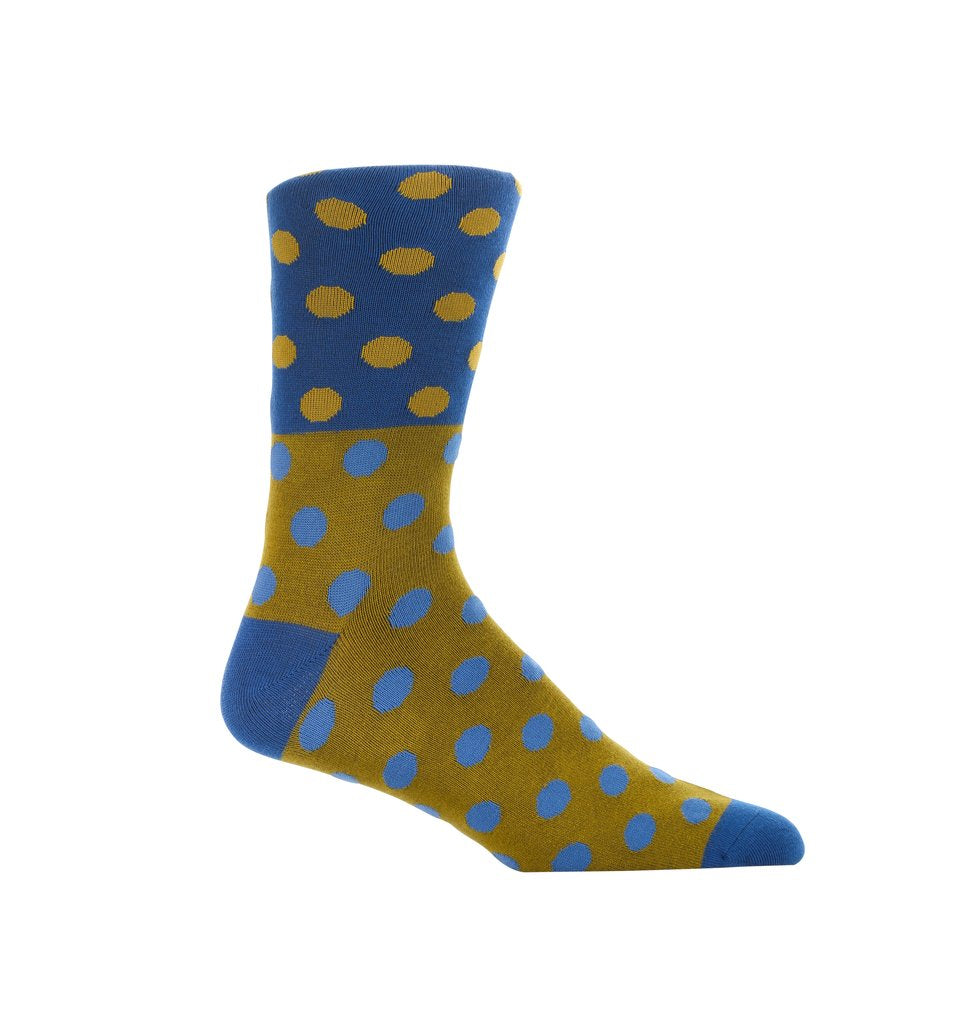 Blue Treasure Dress Socks